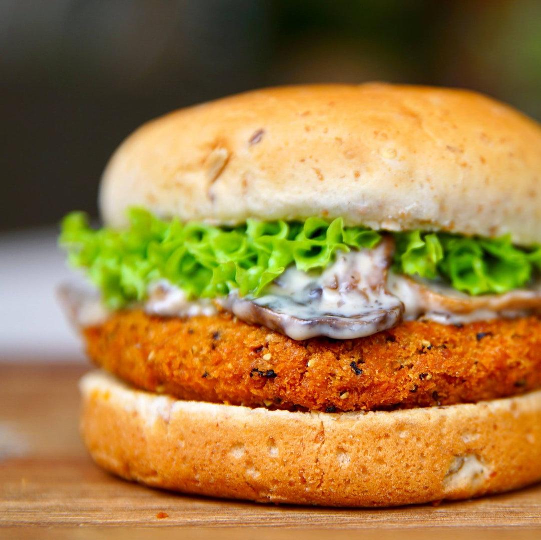 Vegan burger from Veganburg restaurant