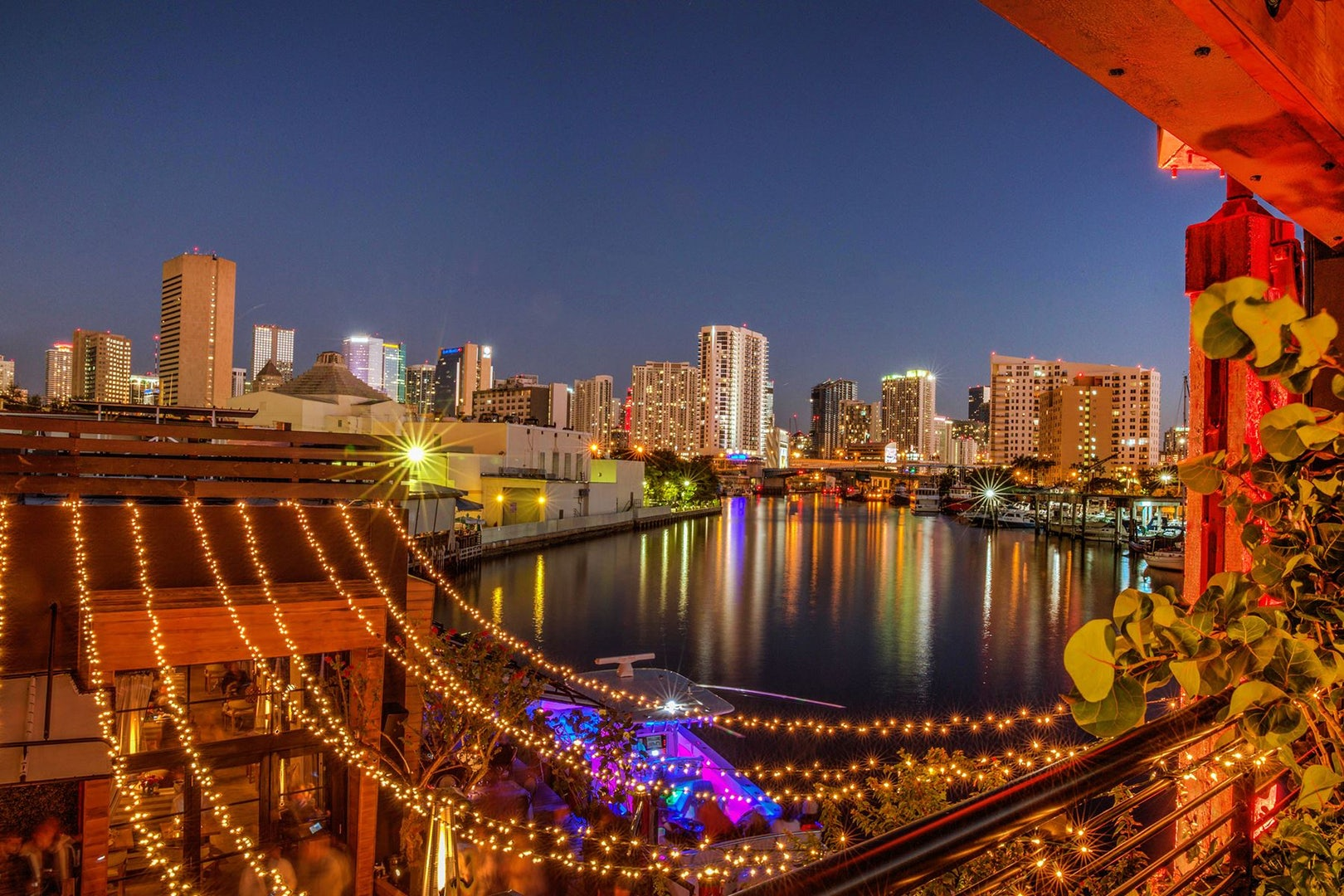 view over Miami city as seen from Seaspice bar