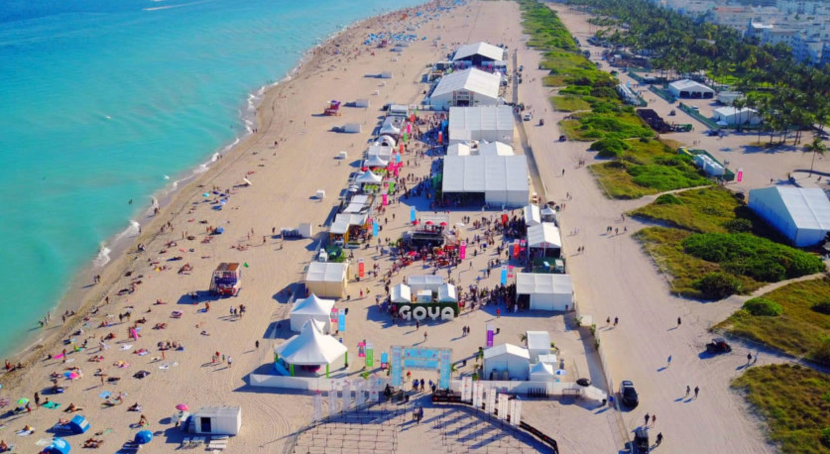 aerial view of the South Beach Wine & Food Festival