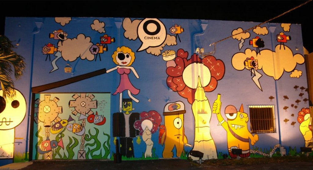 mural painting at O Cinema Miami