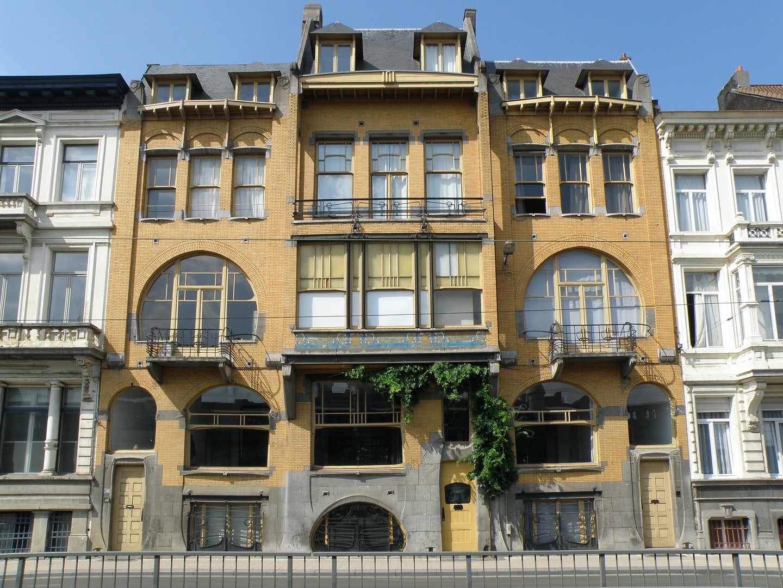 art nouveau house Mercatorstraat Antwerp