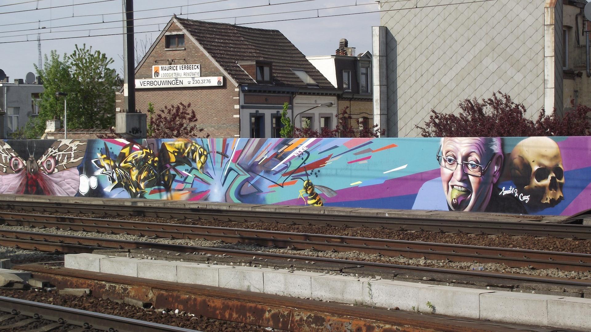 street art Berchem station