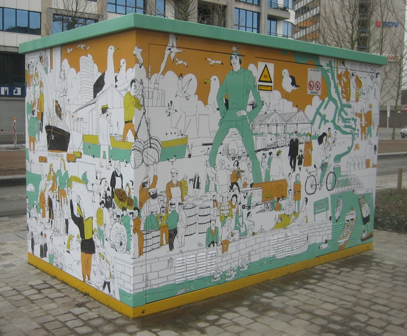 electricity boxes street art Antwerp