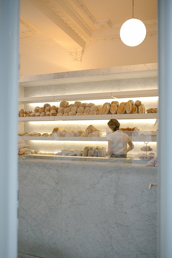 freshly baked breads displayed at Domestic bakery