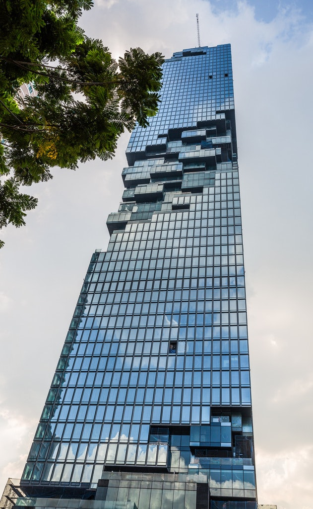 lower view of Mahanakhon Tower