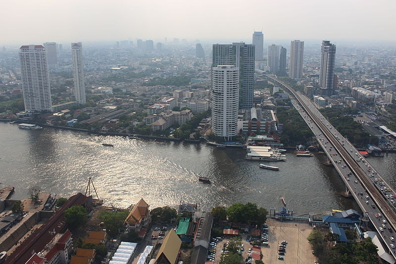 view over Bangkok from Ghost Tower