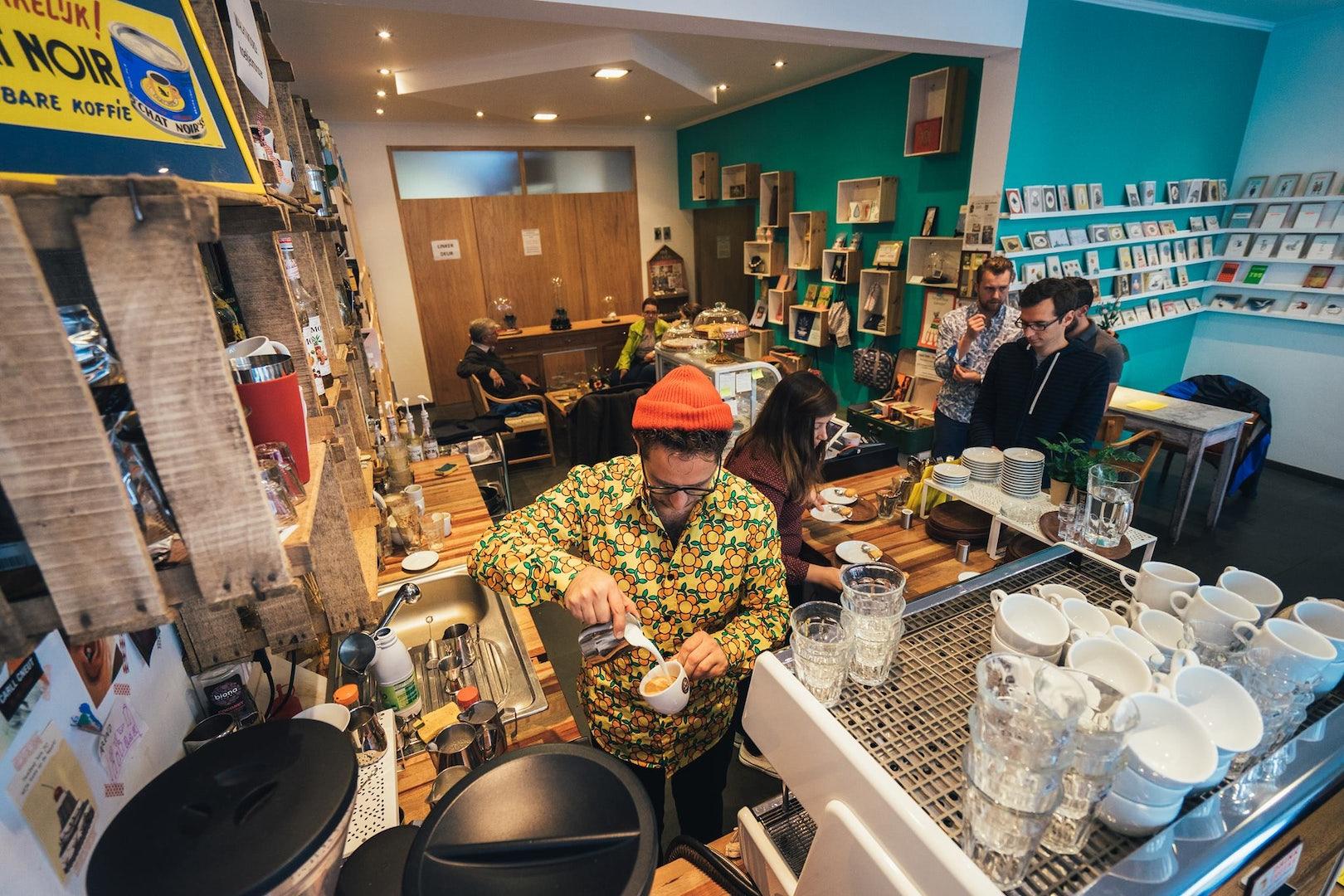 interior of coffee bar Philimonius