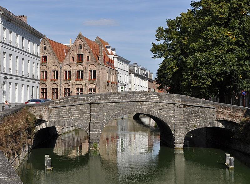Augustijnenbrug over a canal in Bruges