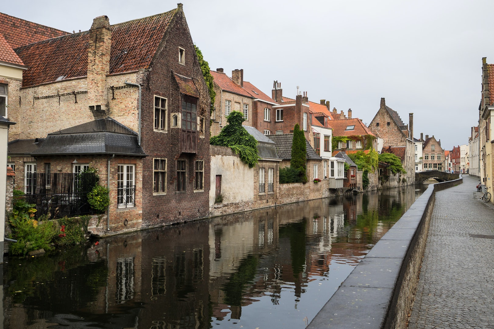houses by the canal in Bruges