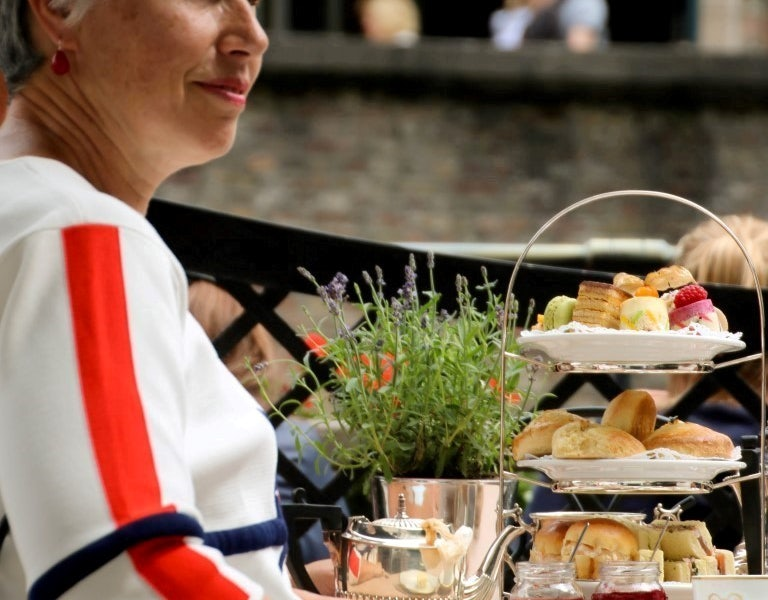 high tea with scones at Hotel de Orangerie
