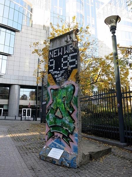 piece of Berlin Wall in Brussels