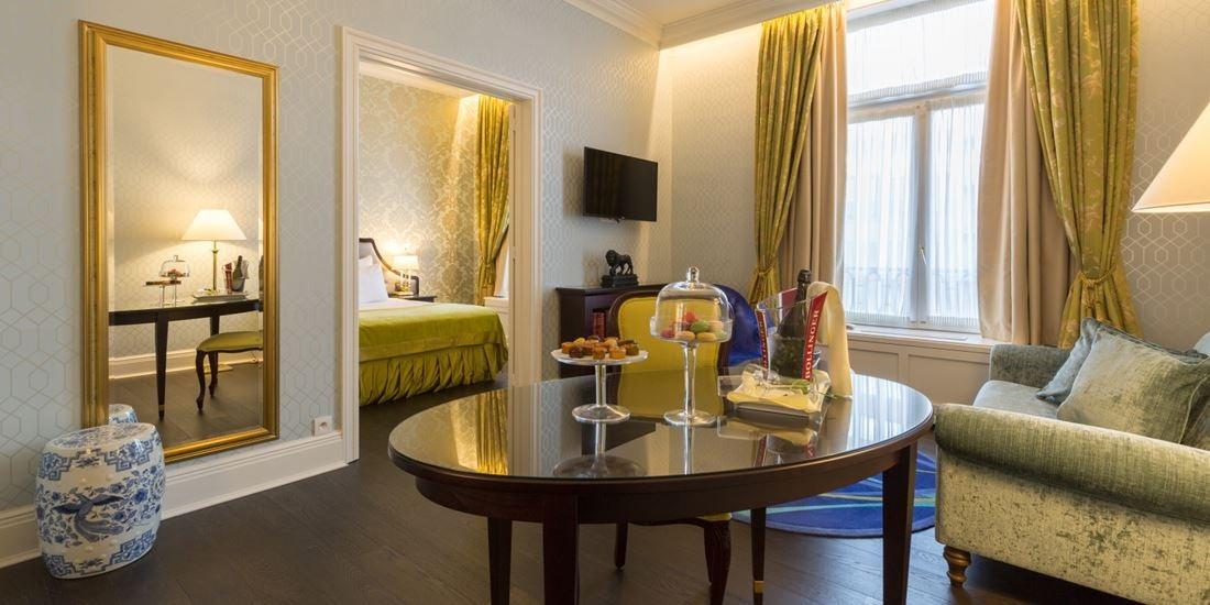 interior of hotel room at Stanhope