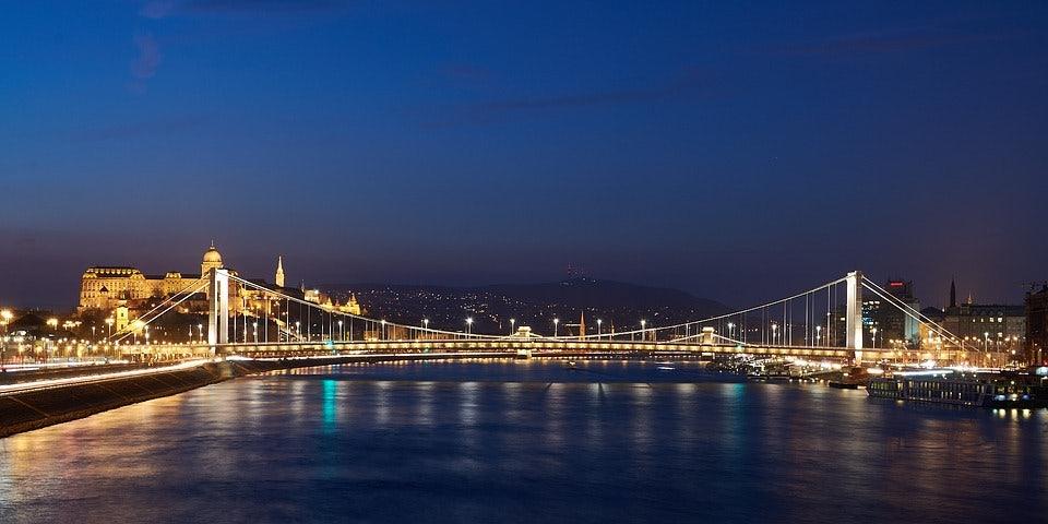 Elisabeth Bridge by night