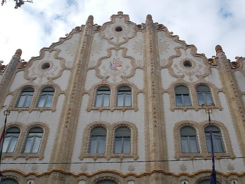 art nouveau façade of Royal Postal Savings Bank