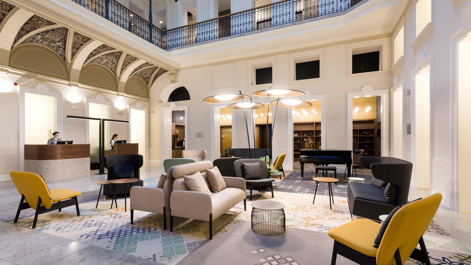 lobby at Hotel Moments