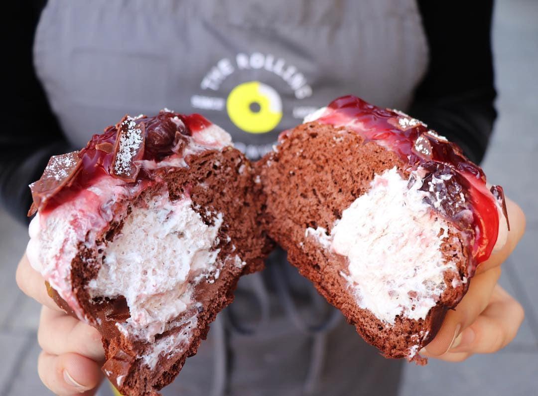 Rolling donut filling