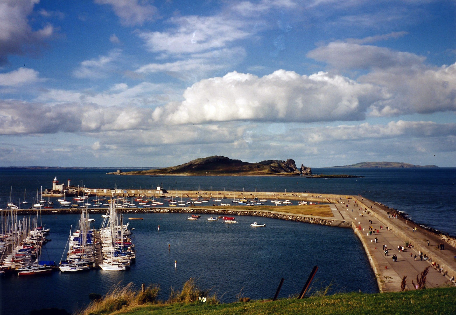 Ireland's Eye harbour view
