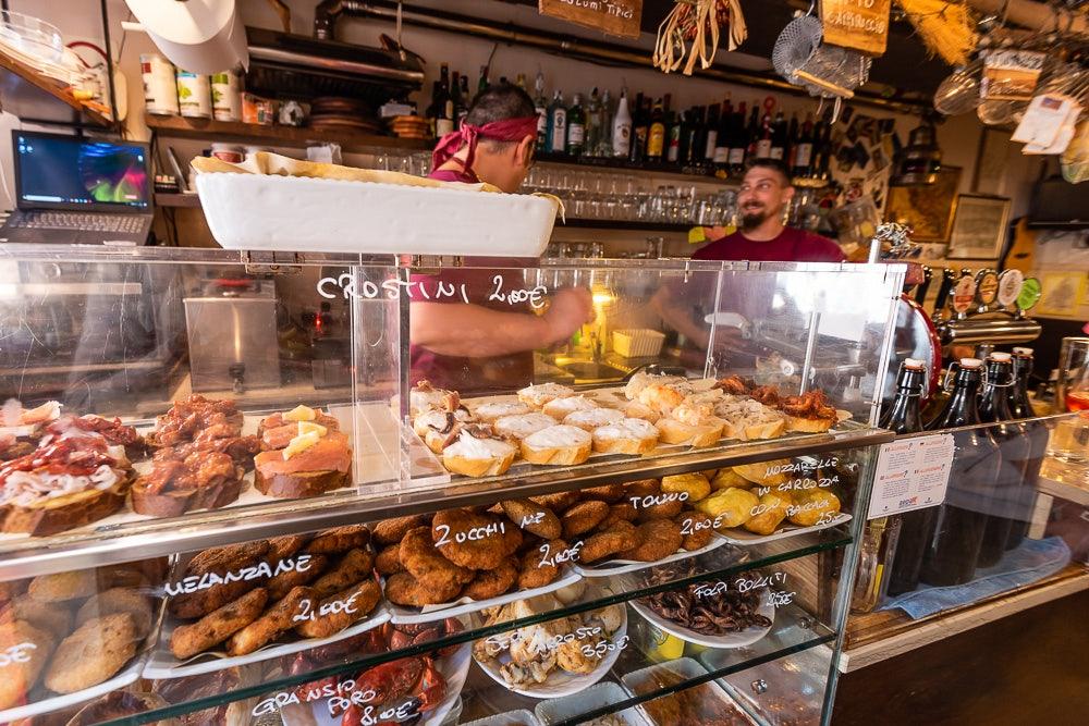 food at Osteria dal Riccio Peoco