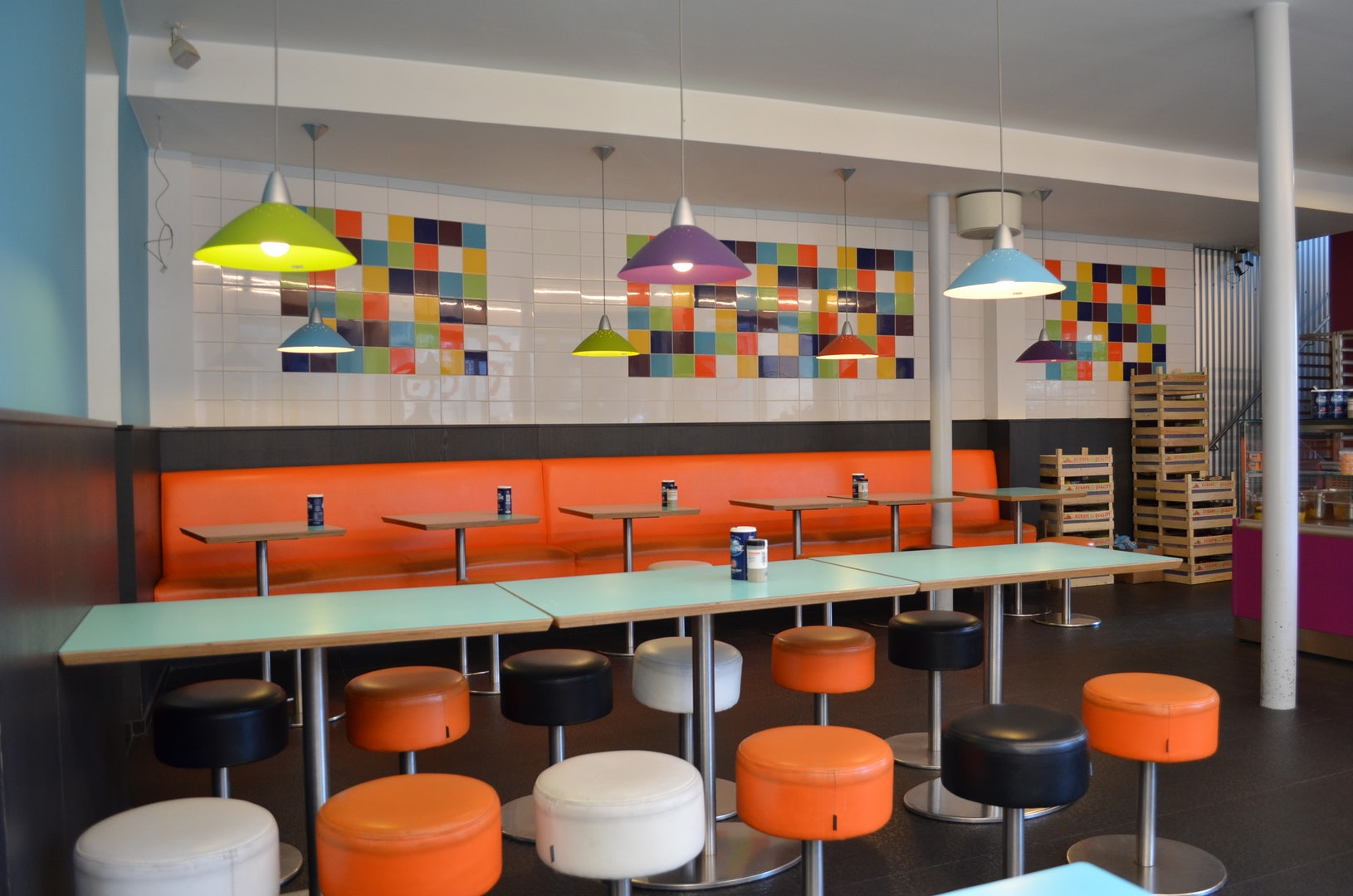 colourful interior of Souplounge Ghent