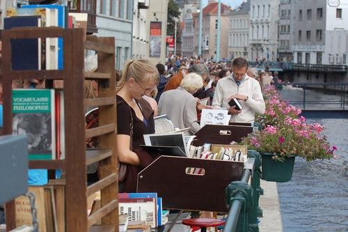 book market in Ghent