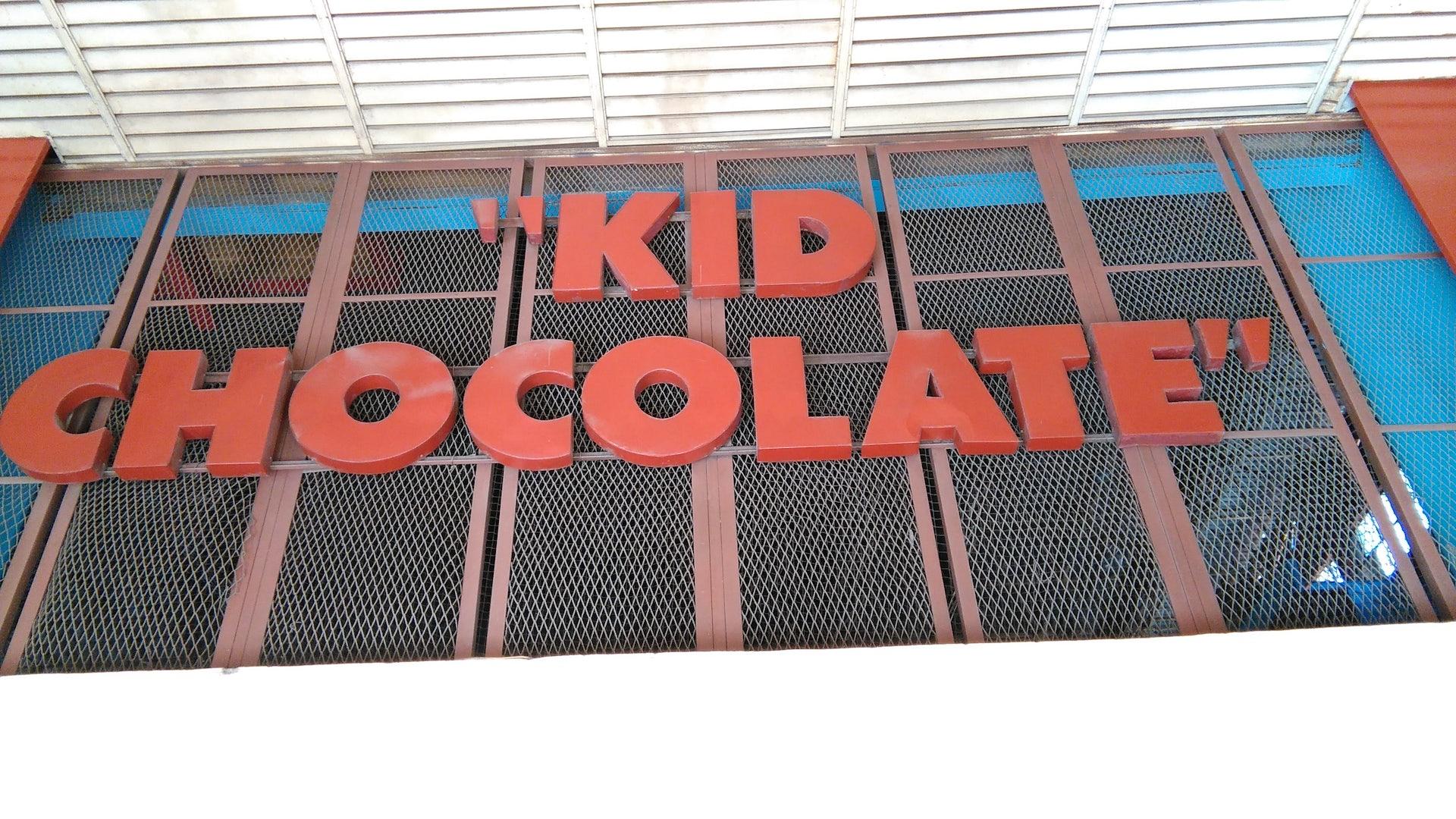 street sign Kid Chocolate