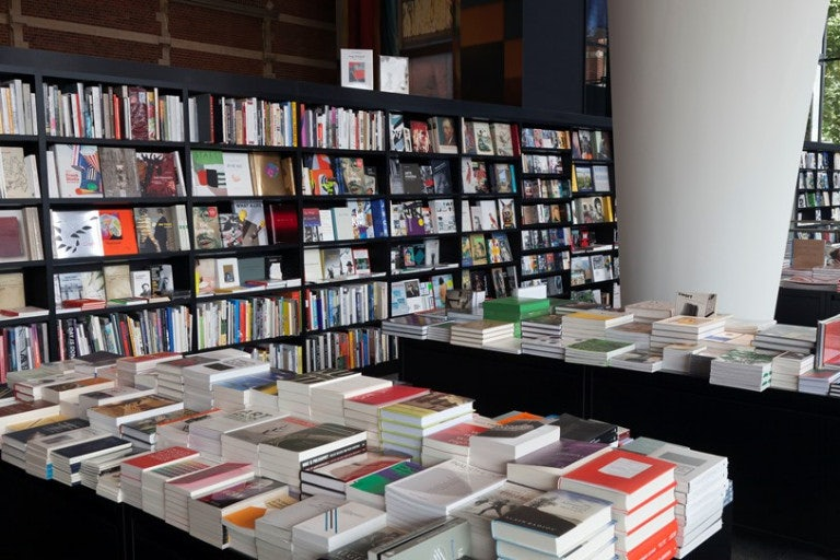 books at the museum shop of Stedelijk Museum