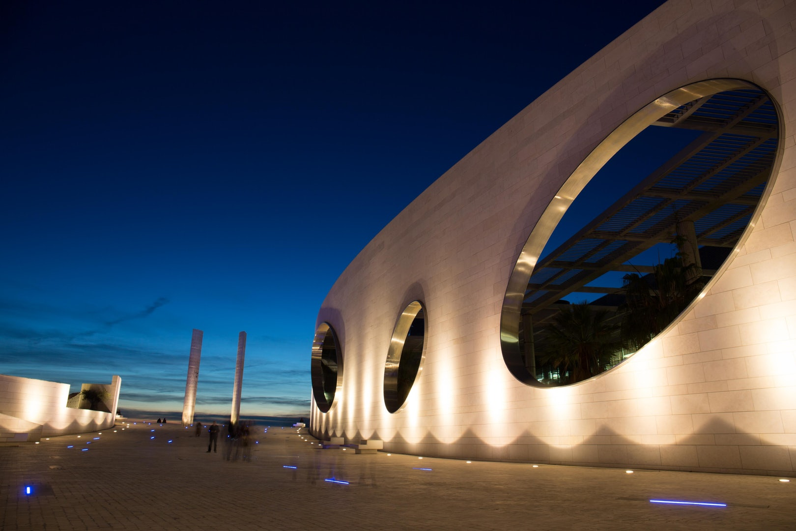 futuristic architecture at the Fundacao Champalimaud