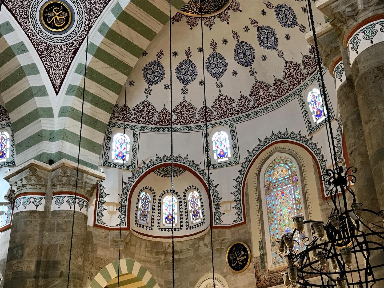 interior of  Mihrimak Sultan Mosque