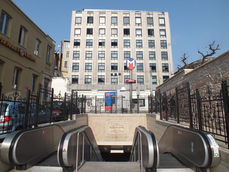 entrance to Sishane Metro