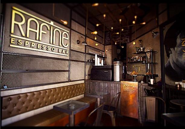 interior of Rafine Espresso Bar