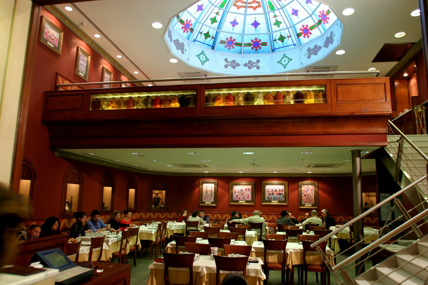 interior and ceiling of Haci Abdullah restaurant