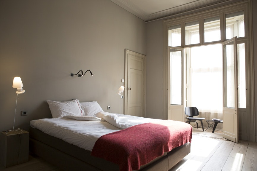 a bedroom at Logid'enri in Ghent