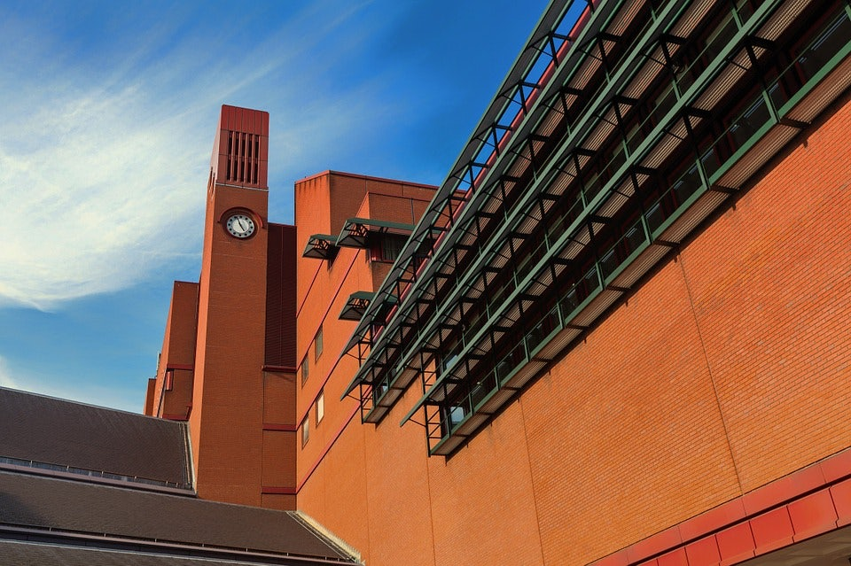 exterior of British Library building