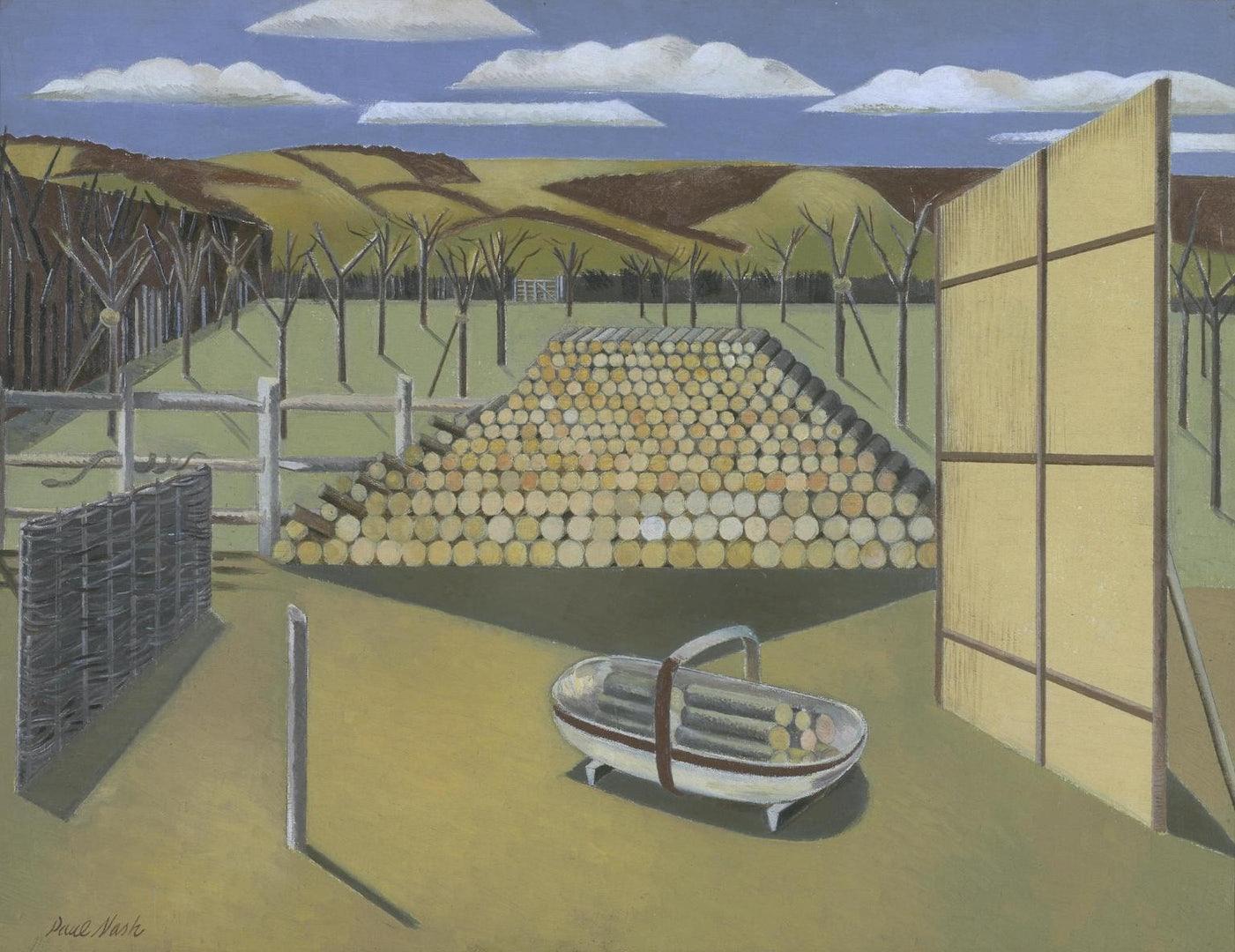 Landscape at Iden painting