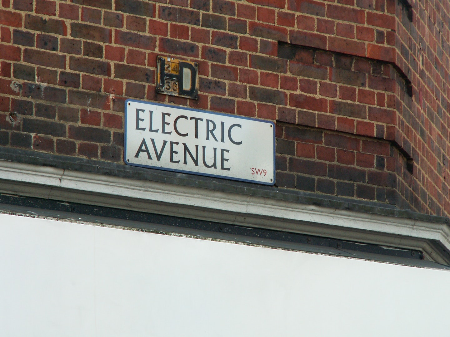 street sign Electric Avenue
