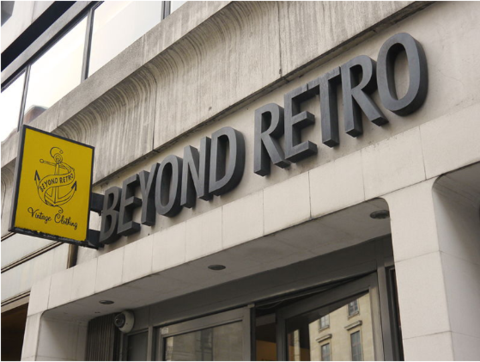 façade sign of Beyond Retro