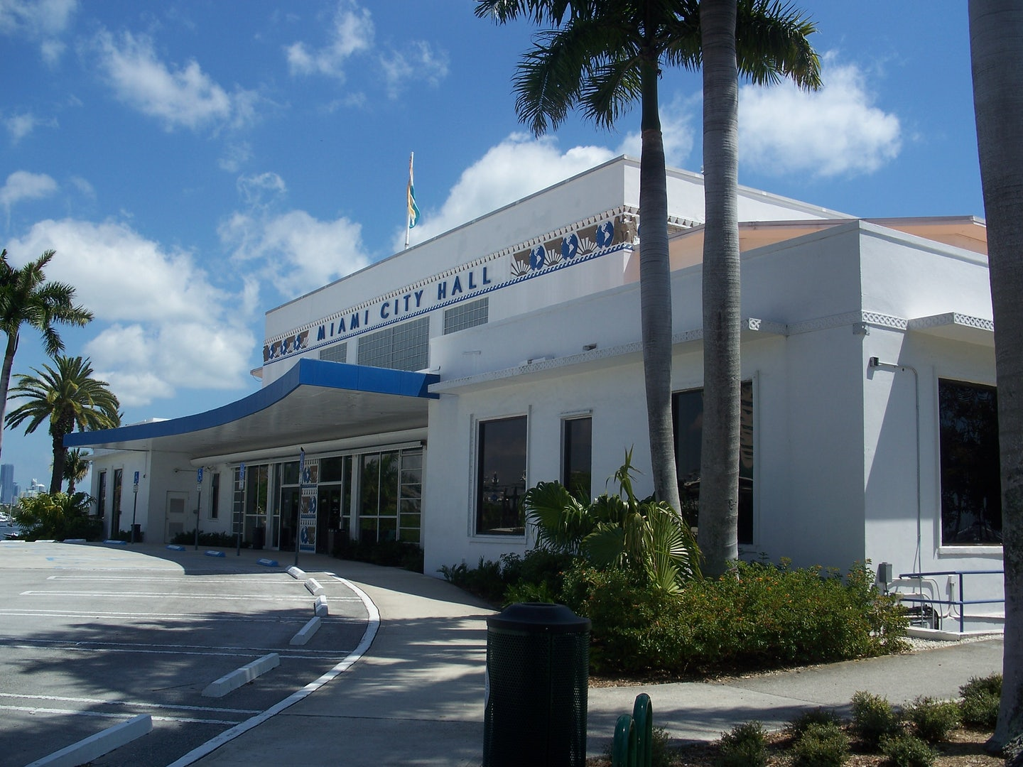 entrance of the Miami City Hall