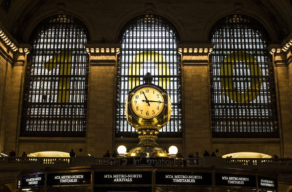 clock at Grand Central Station