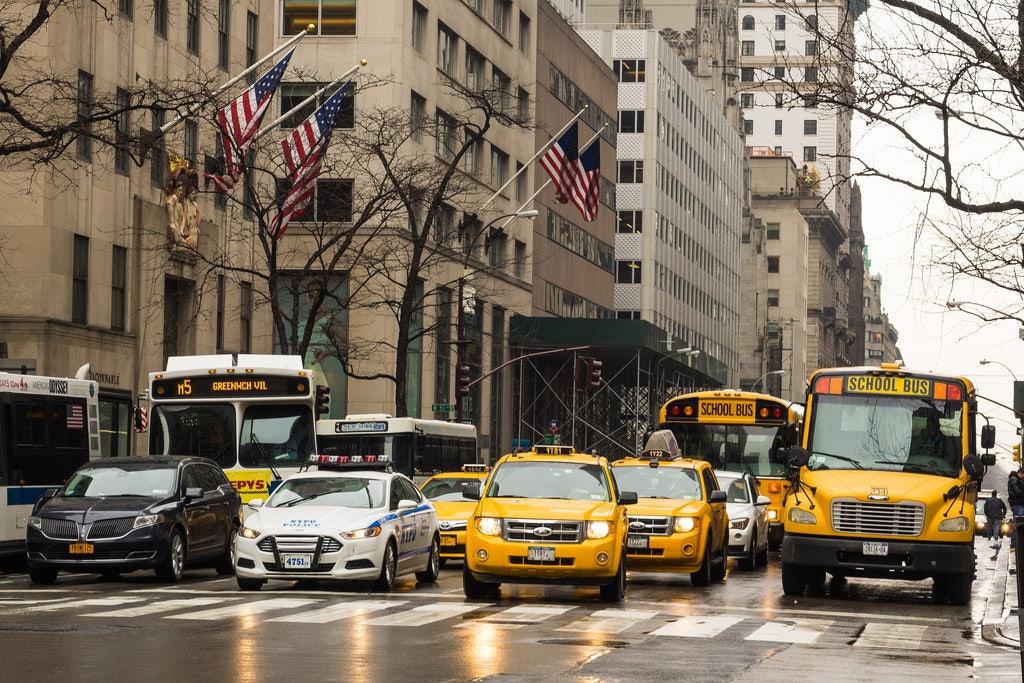 M5 bus down 5th Avenue