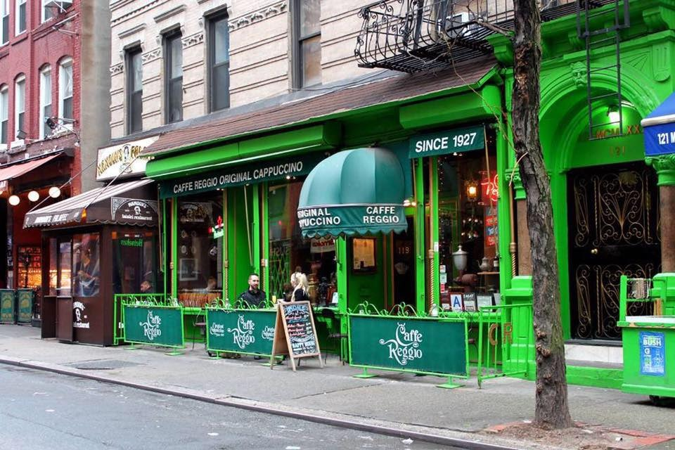 green façade of Caffe Reggio