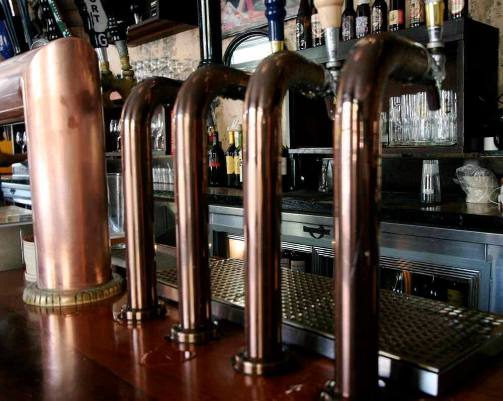 beer taps at Marshall Stack