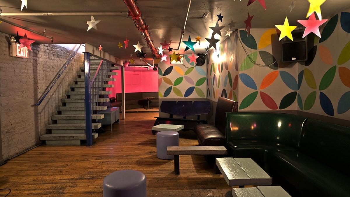 basement interior at Max Fish bar