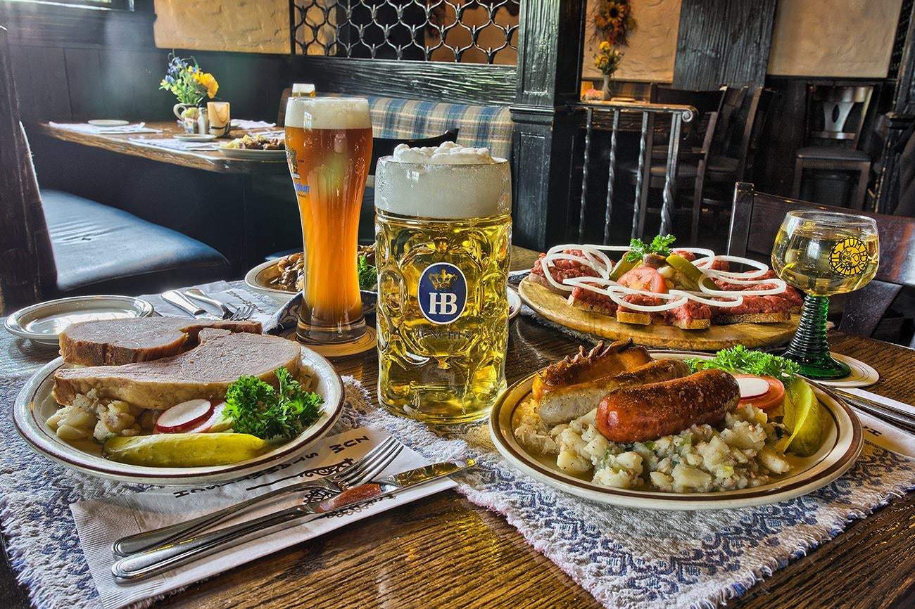 German food and beer at Zum Stammtisch