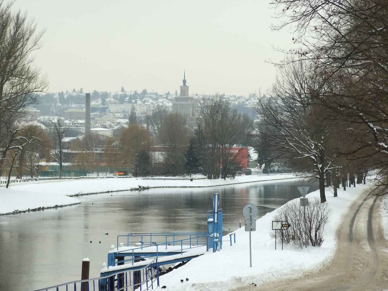 Cisarsky Island during winter