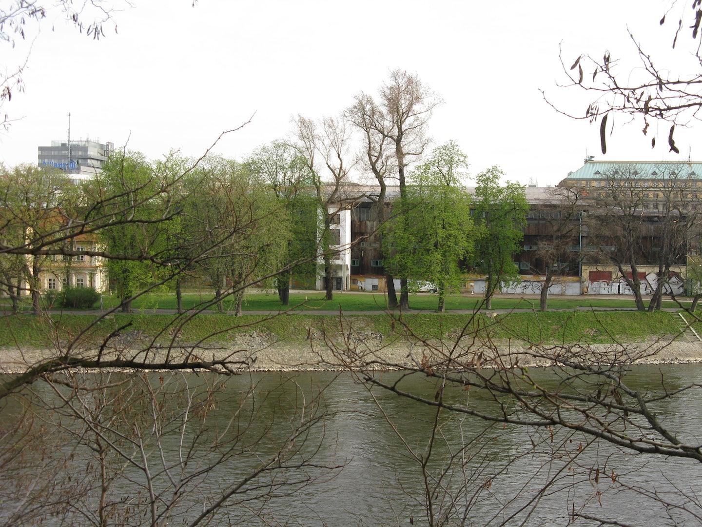 Štvanice island and river in Prague