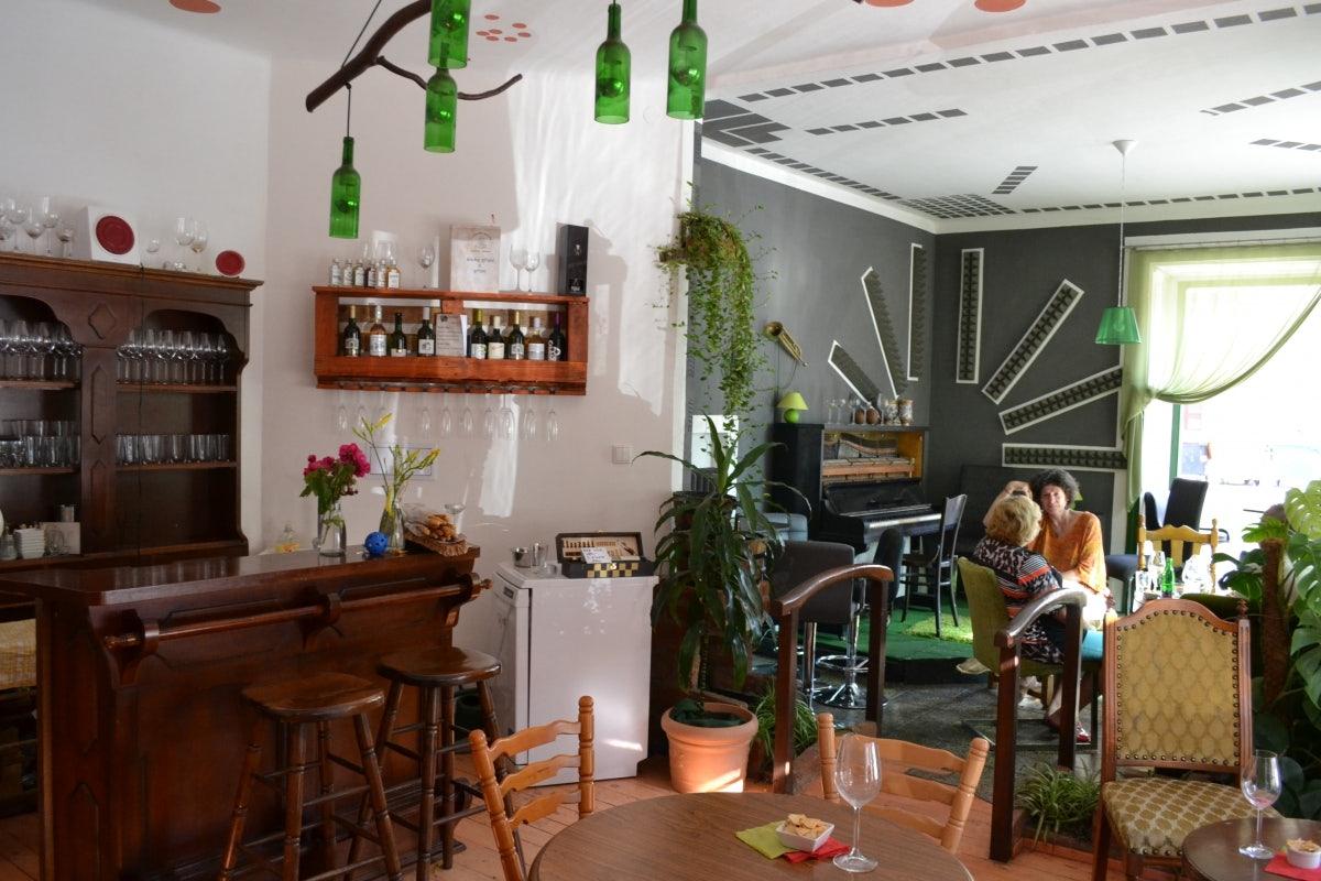 interior of wine bar U Zeleného Mnicha