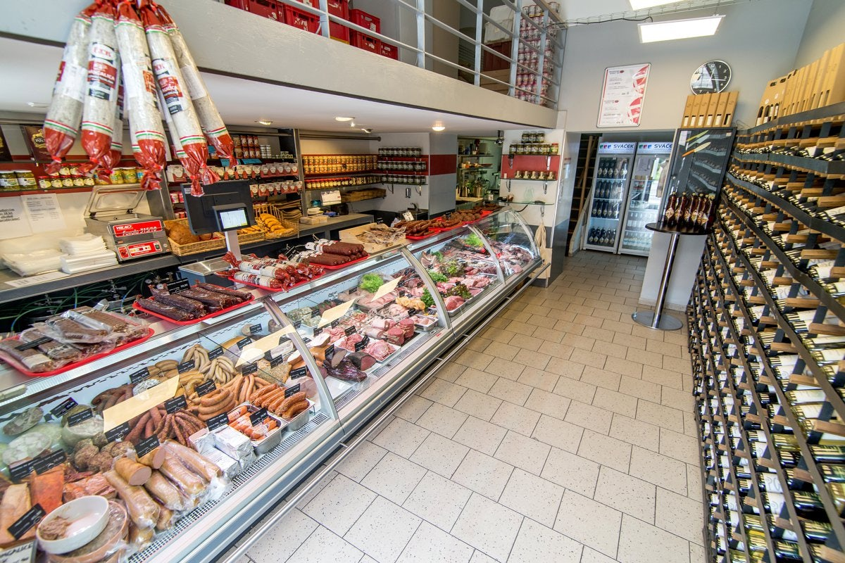interior of deli shop Sváček