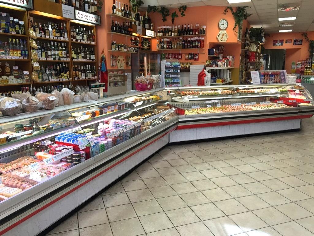 interior of deli shop Zlatý kříž