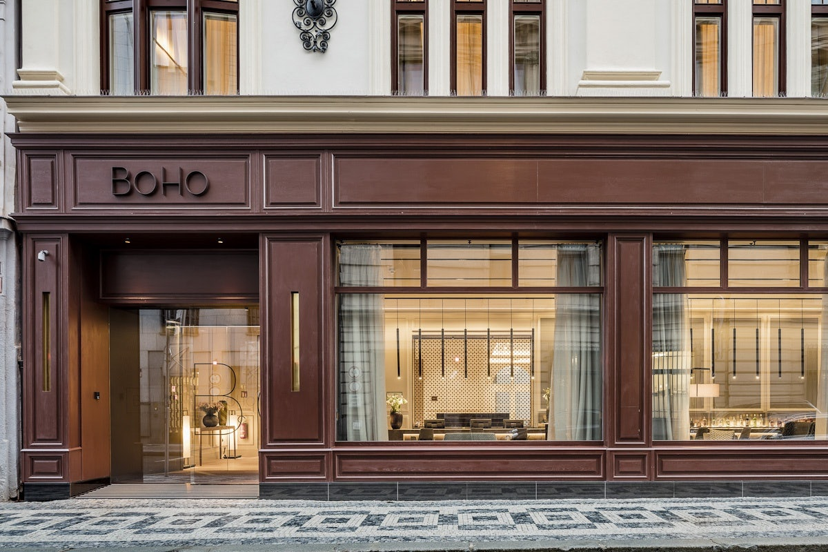 front of Boho Hotel