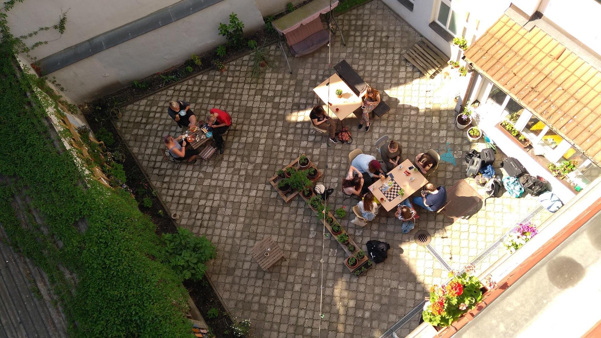 garden of hostel Boudnik